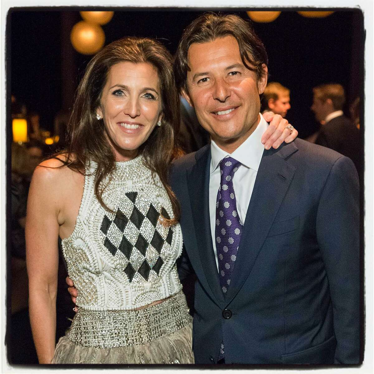 CPMC Foundation board co-chairwoman Sloan Barnett and her husband, Roger Barnett, at Pier 35 for the CPMC 2020 Gala. Feb 2016. By Drew Altizer.