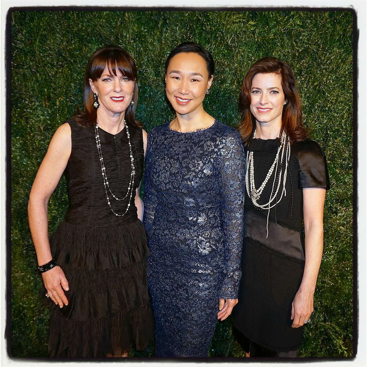 CPMC 2020 Gala co-chairs and Foundation trustees Allison Speer (left) with Dr. Carolyn Chang and Carol Bonnie at Pier 35. Feb 2016.