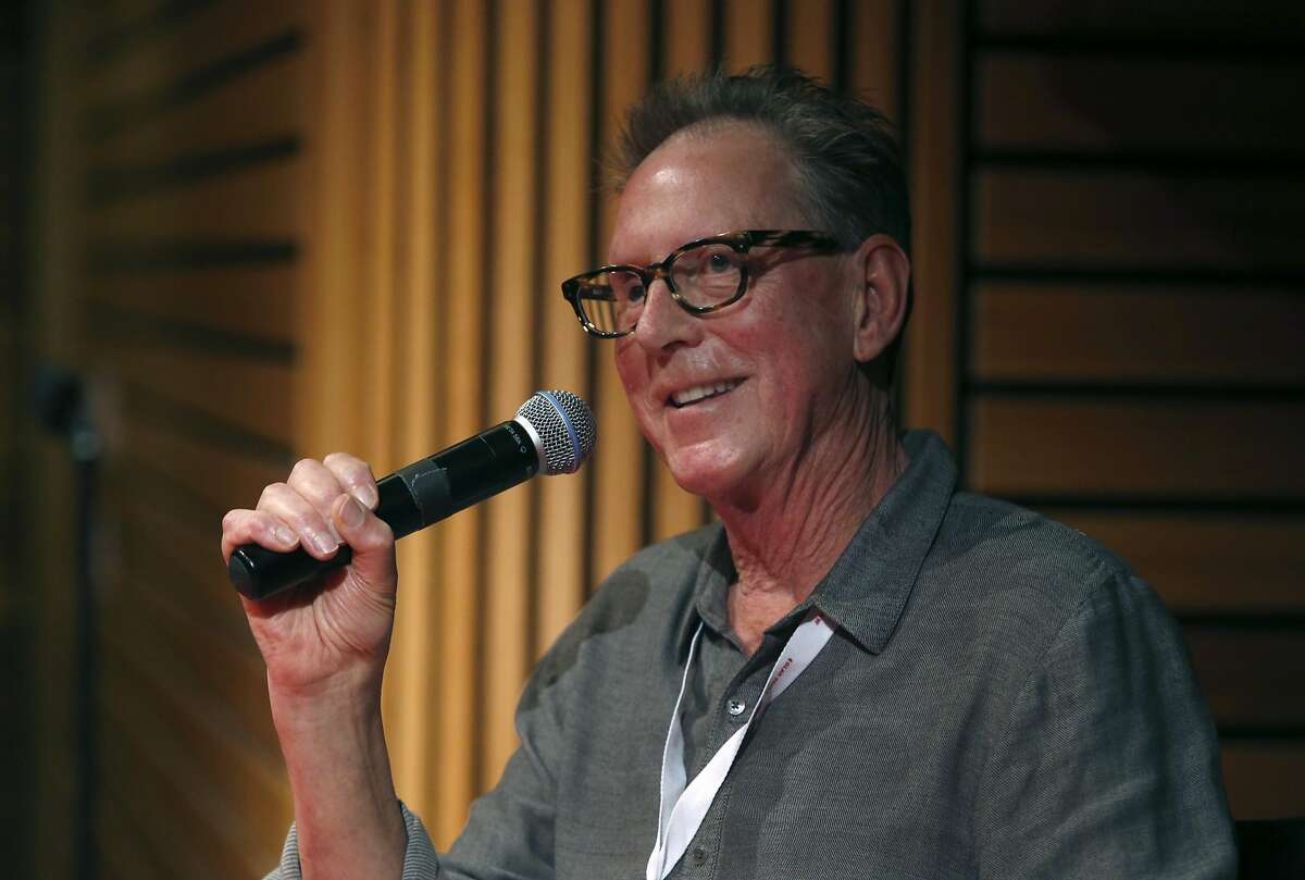 Animator Paul Vester answers questions from the audience after a retrospective screening of his best work during the GLAS Animation Festival at the David Brower Center in Berkeley on March 4, 2016.