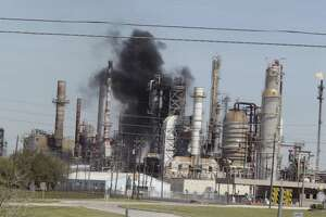 An explosion Saturday morning, March 5, 2016 at a Pasadena refinery sent plumes of smoke into the air and first responders scrambling to the scene.