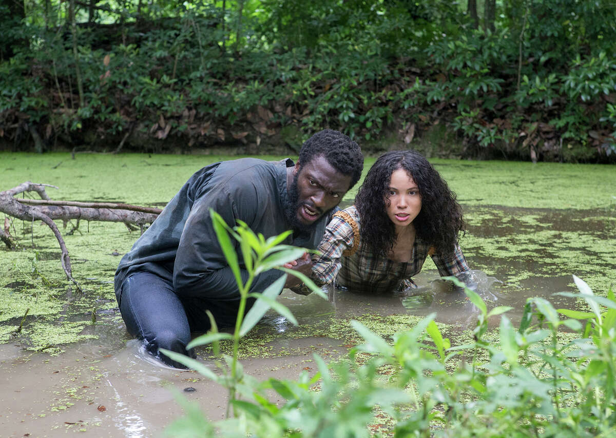 """Aldis Hodge plays Noah, a slave who tries to escape, and Jurnee Smollett-Bell plays Rosalee, a house slave who is his love interest in """"Underground."""" Although the plot is filled with melodramatic cliches, the casts' performances begin to reflect the complex nuances of moral character."""