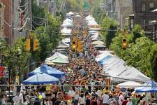 From State Street to Madison Avenue Lark Street was sidewalk to sidewalk packed during Lark Fest 2008 in Albany, N.Y. (Michael P. Farrell/Times Union)
