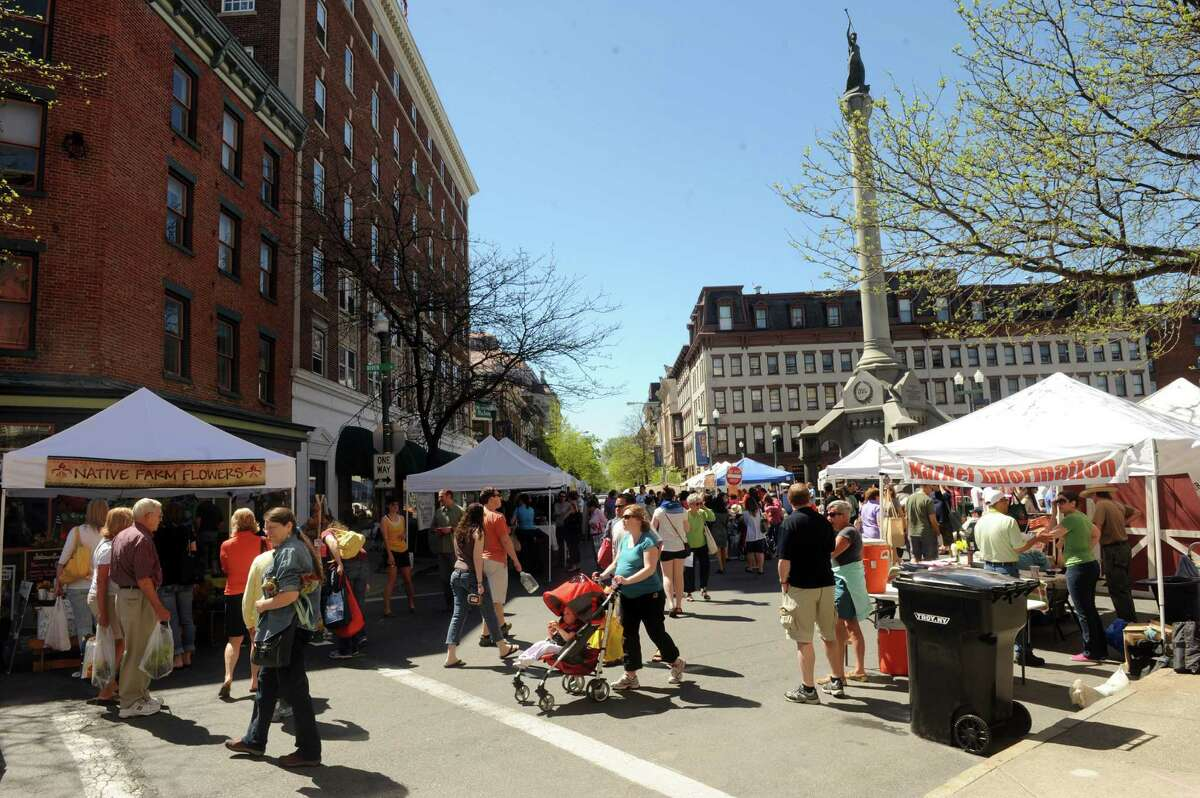 The Troy Farmers' Market in Troy, NY is always full of food and craft vendors, live music and fun activities. Whether you want to grab fresh vegetables for dinner or simply sit down and enjoy a sweet treat, head over the market for a leisurely stroll.