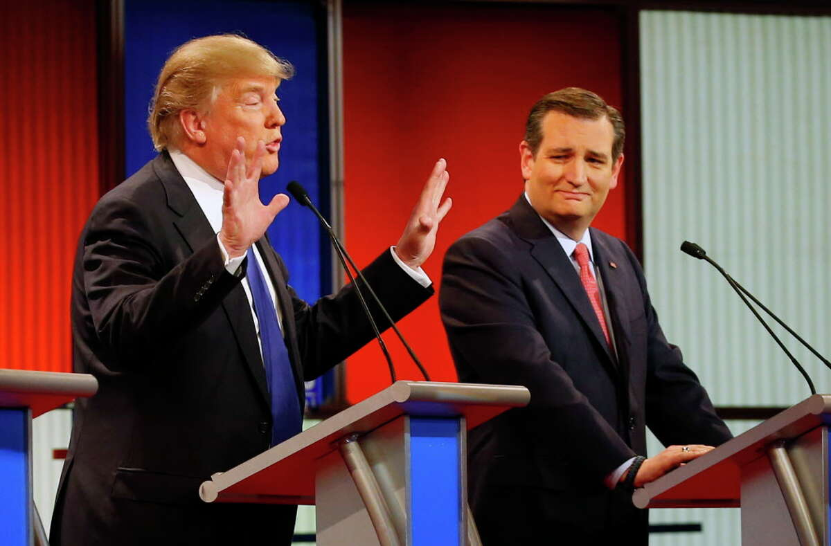 Discussing his penis during a debate (March 2016) During a debate in Detroit, Trump defended the size of his penis by saying he had