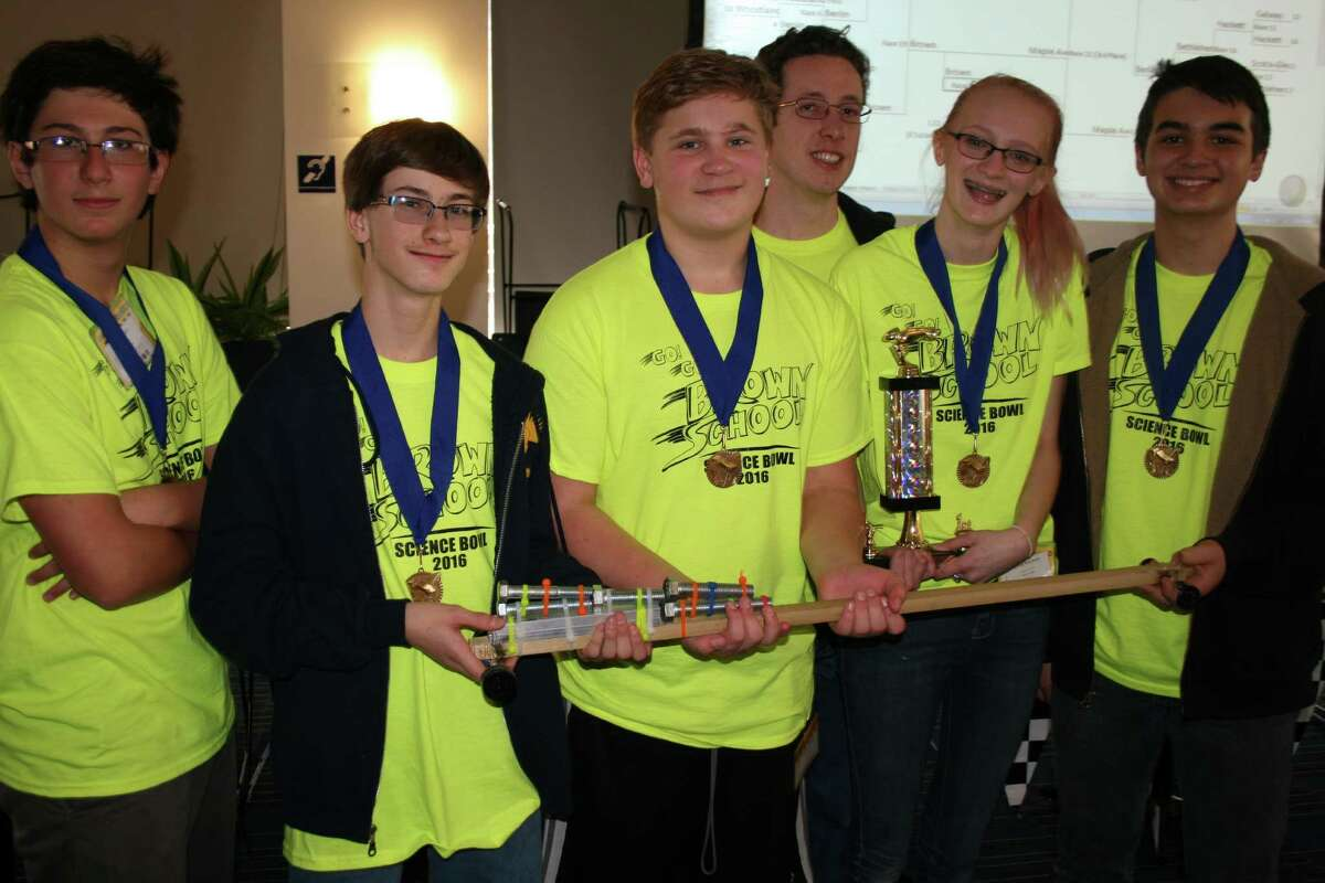 The results are in for the National Science Bowl Regional Qualifying Tournament held Saturday at GE Global Research. A middle school car race competition was held in the morning, with the Brown School in Schenectady taking first place. (Courtesy Todd E. Alhart)