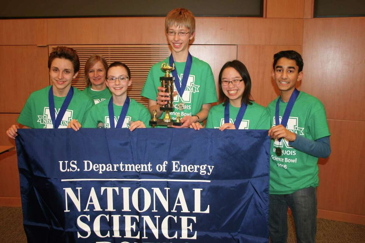 Iroquois Middle School in Niskayuna took first place in its category in the National Science Bowl Regional Qualifying Tournament held Saturday at GE Global Research. (Courtesy Todd E. Alhart)