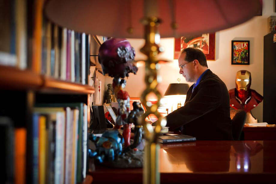 Jeffery J. Kripal, a professor of religion at Rice University, has partnered with author Whitley Strieber to explore alternative interpretations of inexplicable events.   advocates including the paranormal in religious studies. Photo by Michael Stravato/The New York Times / The New York Times