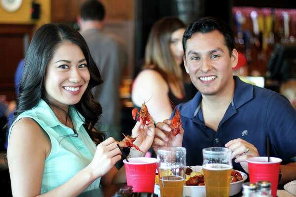 The bibs came out and the mudbugs were on the run at the first annual Crawfish Boil Party at the Flying Saucer Saturday, March 5, 2016.