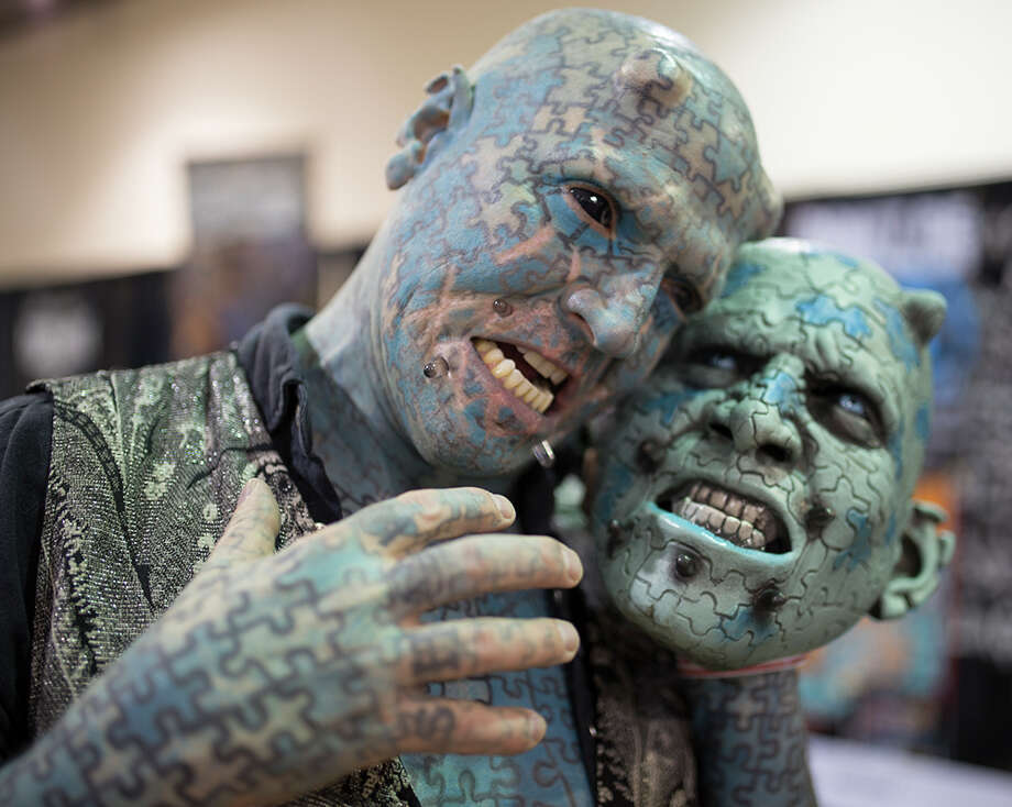 Freeman Coliseum was filled this weekend as hundreds of body art enthusiasts gathered for the annual Slinging Ink Tattoo Expo, Saturday March 5, 2016. Photo: By B. Kay Richter, For MySA.com