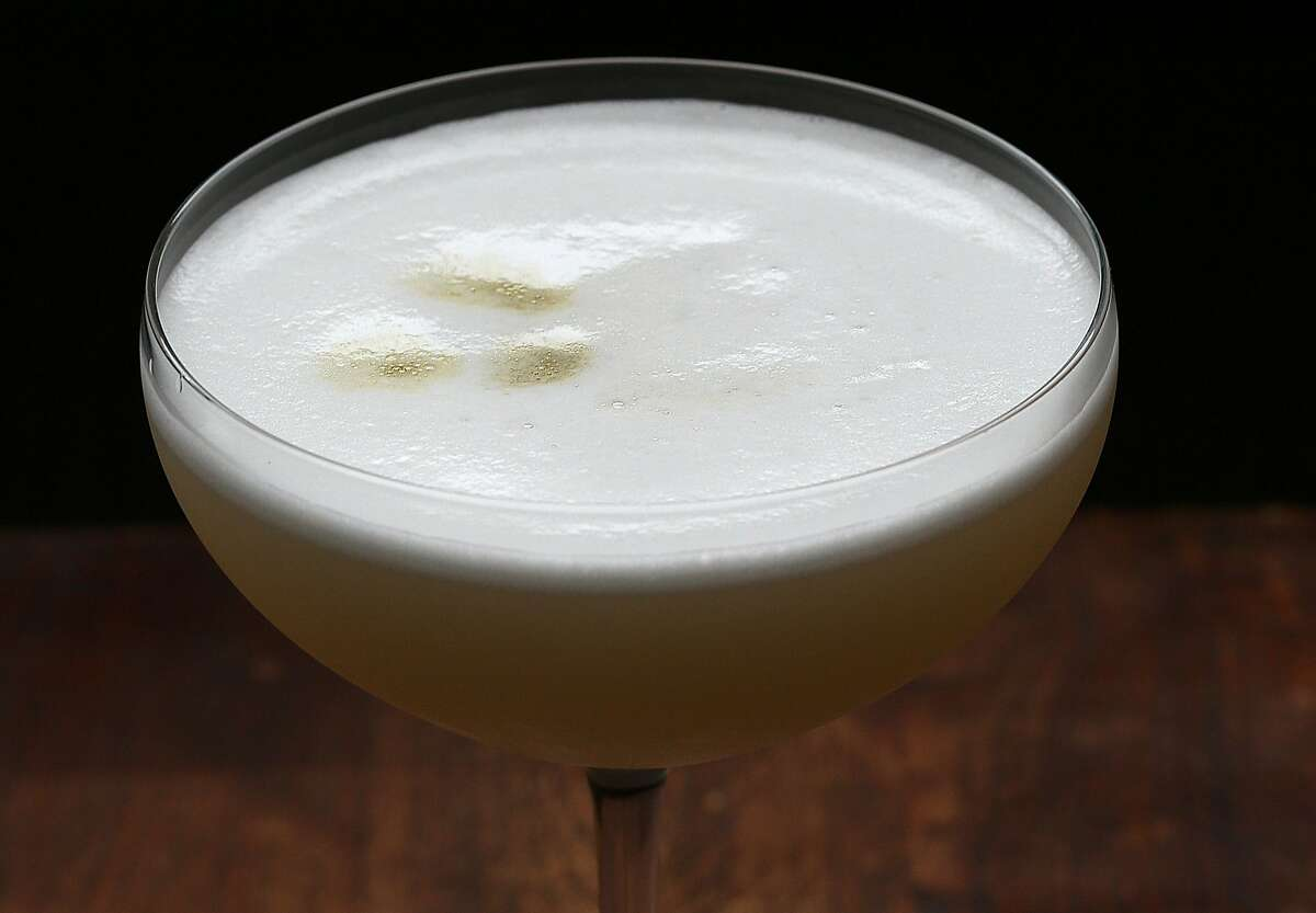 Cocktail made with garbanzo foam in San Francisco, California, on friday, march 4, 2016. Dried beans, peas and chickpeas are being marketed as the next superfood during the United Nation's International Year of the Pulse .