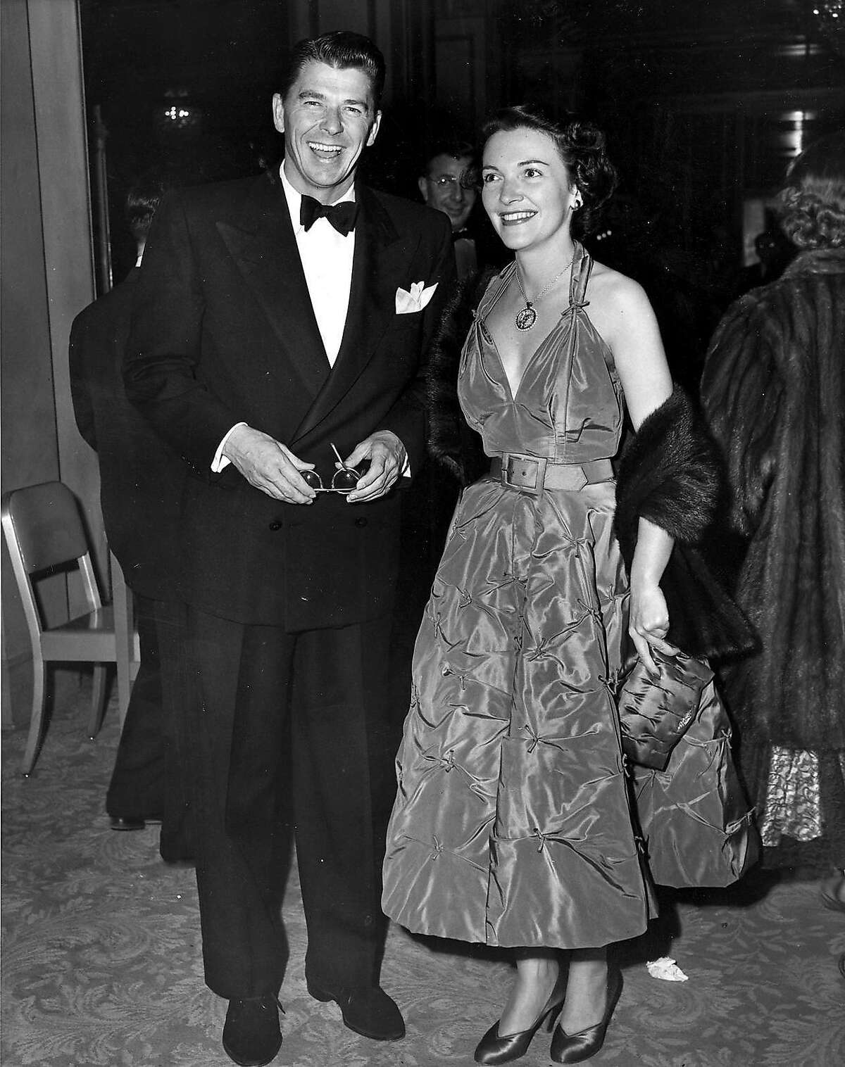 Ronald and Nancy Reagan at the Screen Writers Guild Awards Dinner at the Ambassator Hotel, Hollywood, California Febuary 22, 1951.