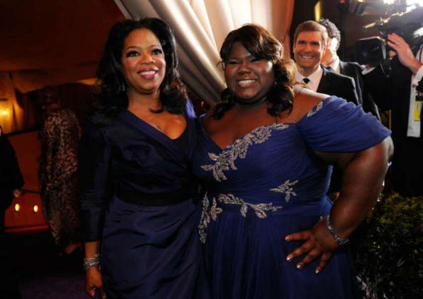 HOLLYWOOD - MARCH 07: Oprah Winfrey and actress Gabourey Sidibe attend the 82nd Annual Academy Awards Governor's Ball held at Kodak Theatre on March 7, 2010 in Hollywood, California. (Photo by Kevork Djansezian/Getty Images)