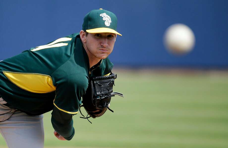 In 62 career starts, Jarrod Parker went 25-16 with a 3.68 ERA. Photo: Morry Gash, Associated Press