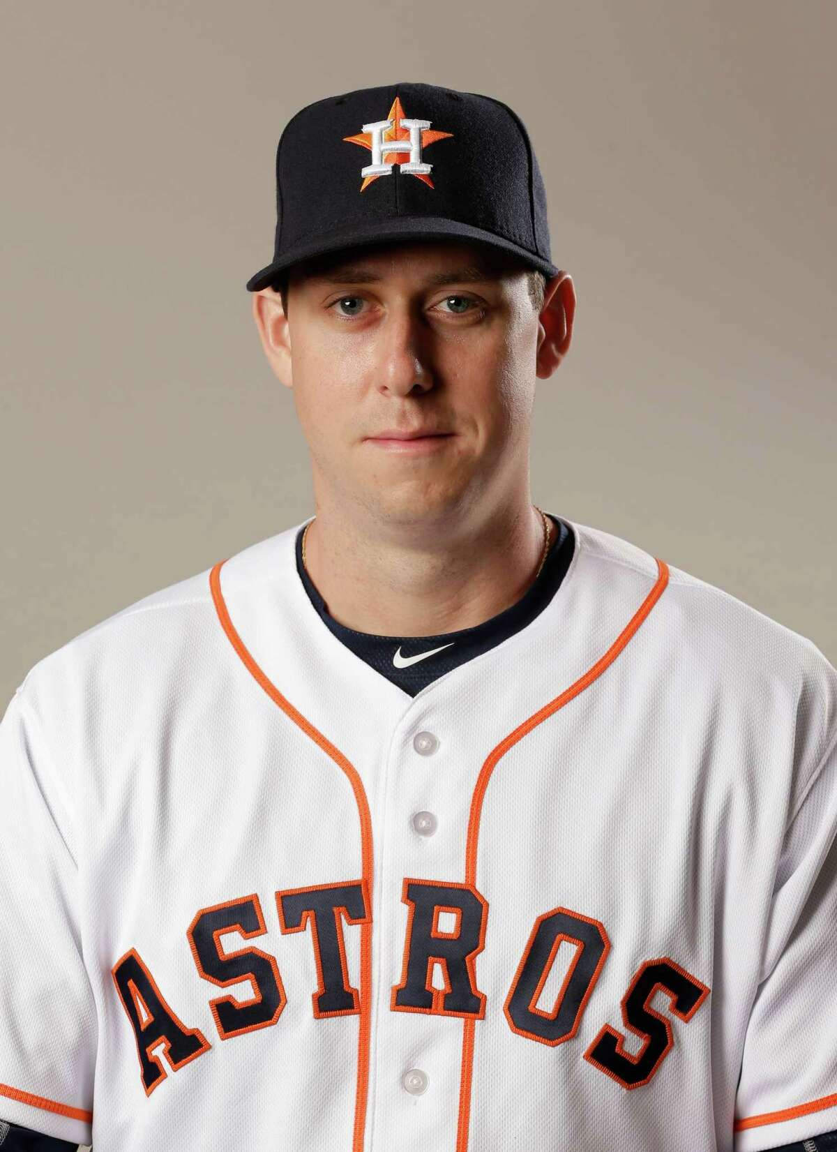 This is a 2016 photo of Matt Duffy of the Houston Astros baseball team. This image reflects the Houston Astros active roster as of Wednesday, Feb 24, 2016 in Kissimmee, Fla., when this image was taken. (AP Photo/John Raoux)