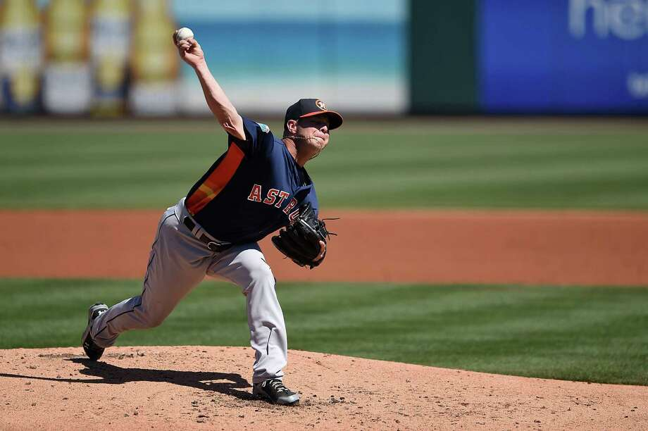 BRADENTON, FL - MARCH 06:  Brad Peacock #41 of the Houston Astros throws a pitch during the second inning of a spring training game against the Pittsburgh Pirates at McKechnie Field on March 6, 2016 in Bradenton, Florida. Photo: Stacy Revere, Getty Images / 2016 Getty Images