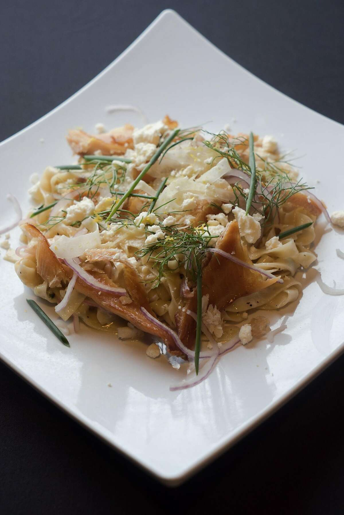 The V Restaurant Bar and Bistro serves a Smoked Idaho Trout Linguini in Murphys, Calif. on Friday, March 4, 2016. V Restaurant Bar and Bistro is one of the more popular places to dine in Calaveras County.