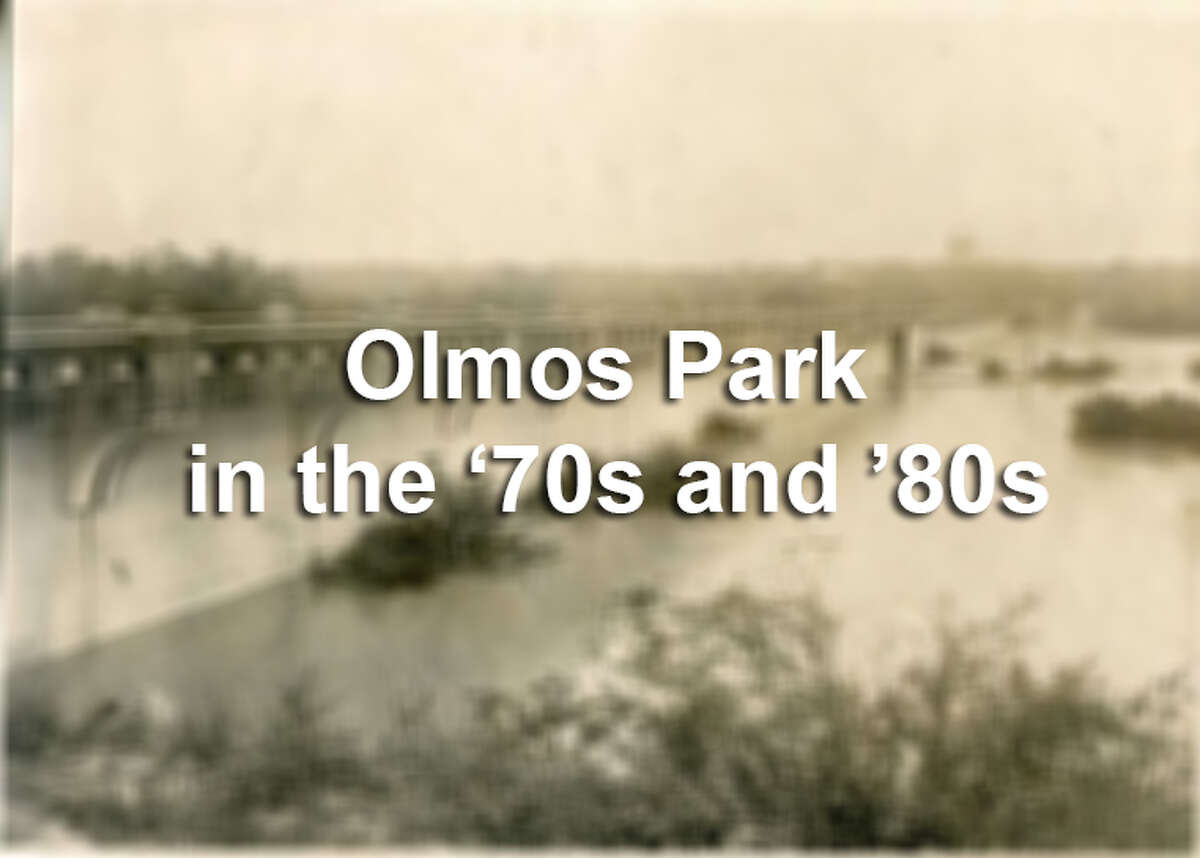 Vintage photos of Olmos Creek Dam from the 1970s and '80s show construction of previous upgrades.