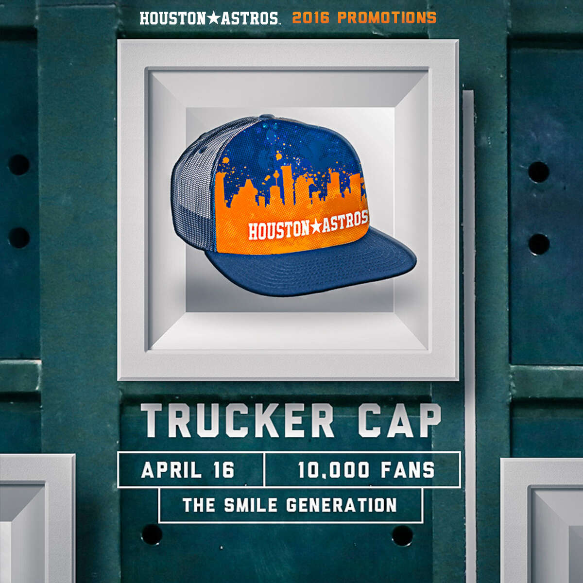 Truckers Cap  (Presented by The Smile Generation) Saturday, April 16 vs. Detroit Tigers First 10,000 fans