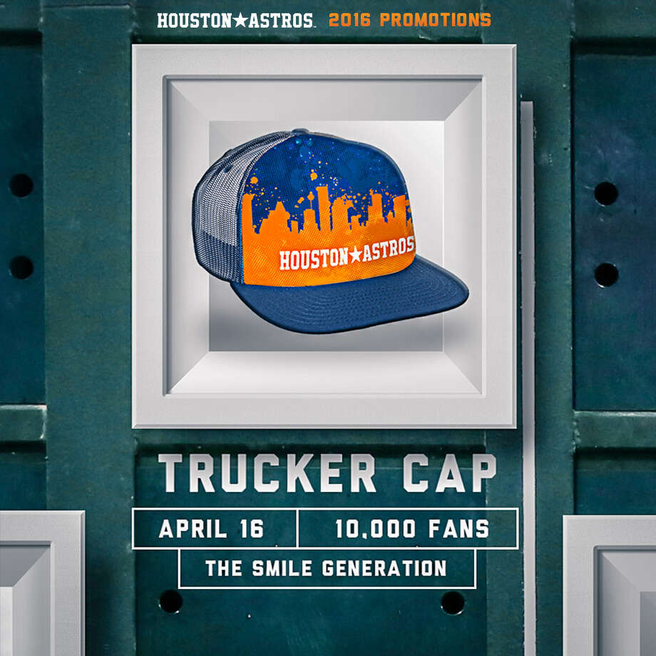 Truckers Cap (Presented by The Smile Generation)Saturday, April 16 vs. Detroit TigersFirst 10,000 fans Photo: Houston Astros