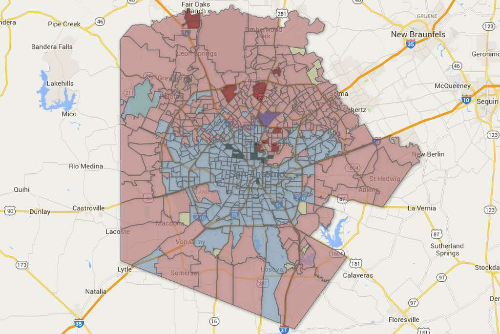 These Are The Bexar County Precincts That Had The Biggest Democratic And Republican Turnouts In The