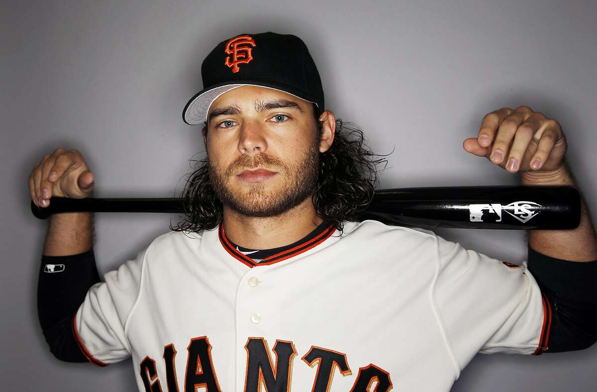 This is a 2016 photo of Brandon Crawford of the San Francisco Giants baseball team. This image reflects the 2016 active roster as of Sunday, Feb. 28, 2016 when this image was taken. (AP Photo/Morry Gash)