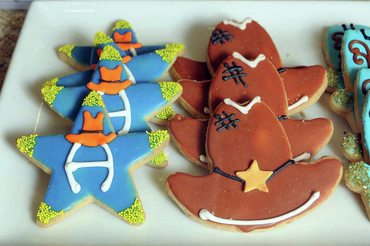 Rodeo cookies at Michael's Cookie Jar in the tunnel beneath the Pennzoil building.