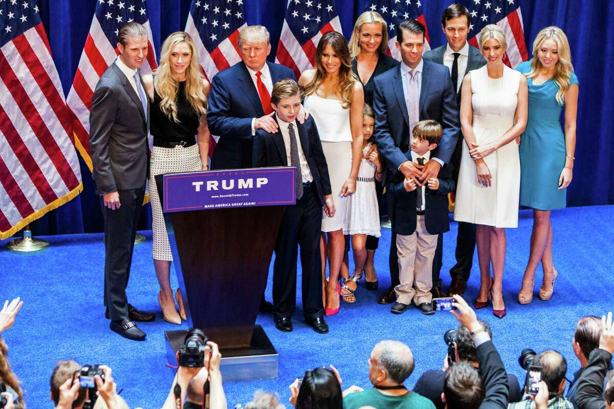 June 2015: Trump announces his candidacy for U.S. president as a Republican.
