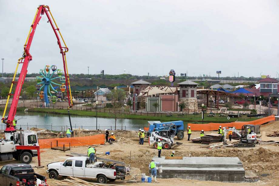 """Construction of Morgan's Inspiration Island, an accessible water park expected to open in spring 2017, Monday March 7, 2016 at Morgan's Wonderland. AGC of mercer along with volunteer contractors have launched an """"Extreme Give"""" construction blitz  where more than $350,000 of construction services have been donated towards the park. Photo: Julysa Sosa/ For The San Antonio Express-News, William Luther / San Antonio Express-News"""