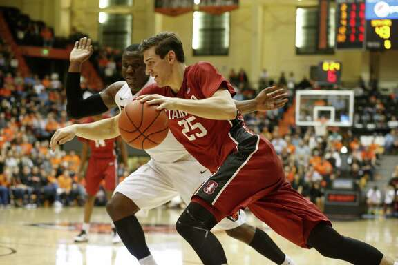 Stanford's Rosco Allen in the second half of an N.C.AA college basketball game, in Corvallis, Ore., on Wednesday, Jan. 6, 2016. (AP Photo/Timothy J. Gonzalez)