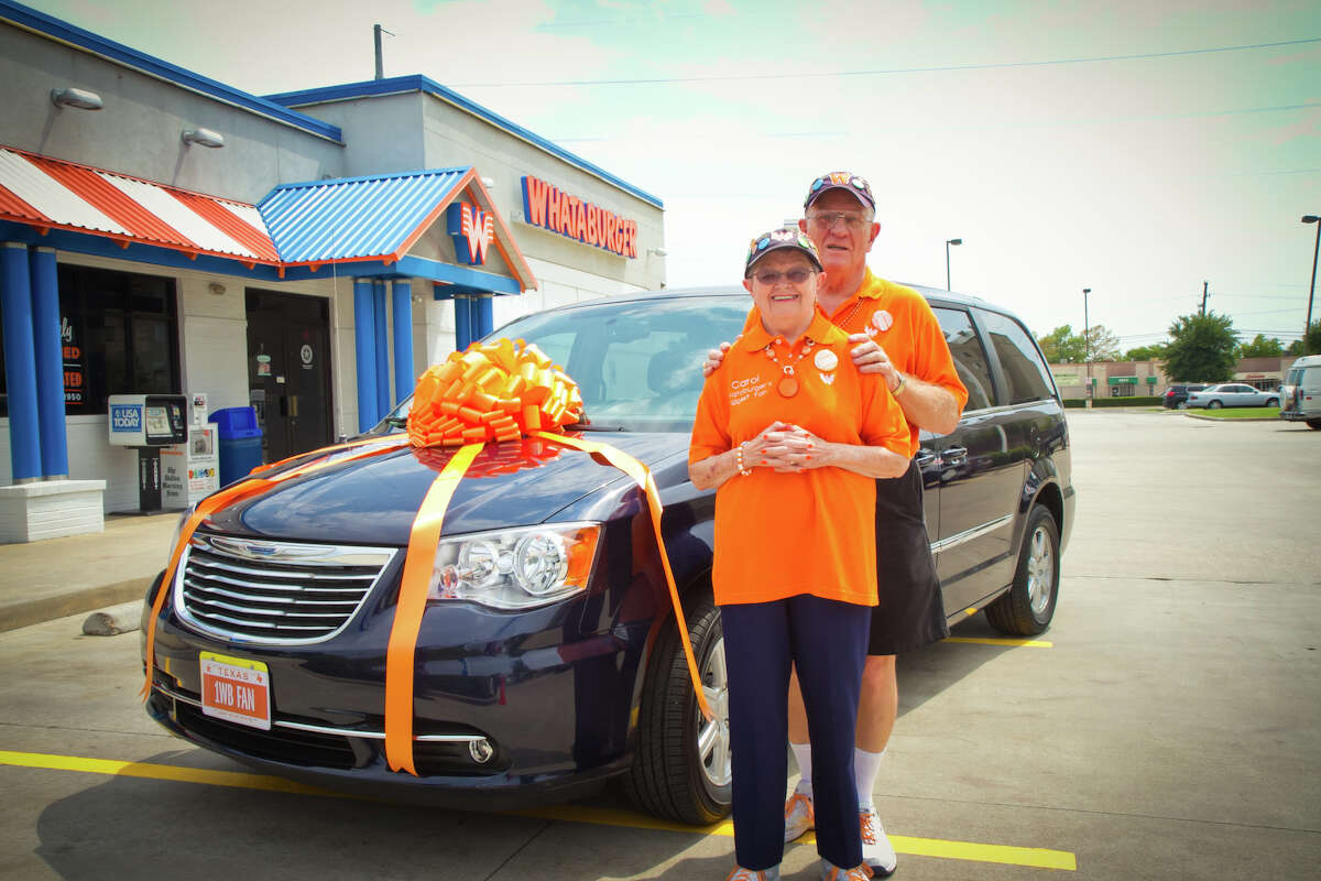 In 2013, Whataburger bought them a special van for their ongoing trip. On Carol's side of the van Whataburger included a message: