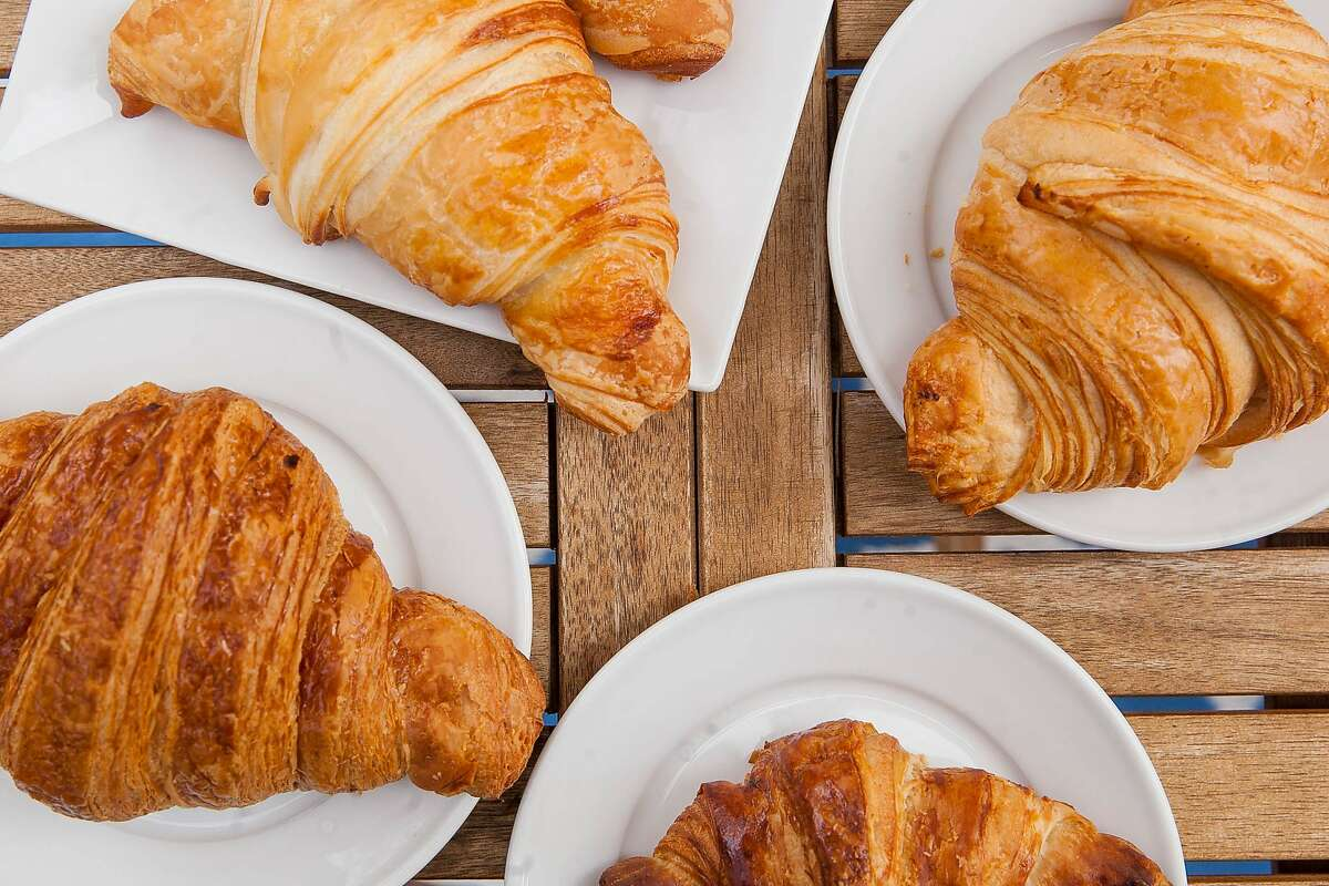 Croissants from Bakery Lorraine, Saveurs 209/La Boulangerie, La Panaderia and CommonWealth Coffeehouse & Bakery Thursday Nov. 12, 2015 during a meeting of the top four croissant makers at CommonWealth Coffeehouse & Bakery.