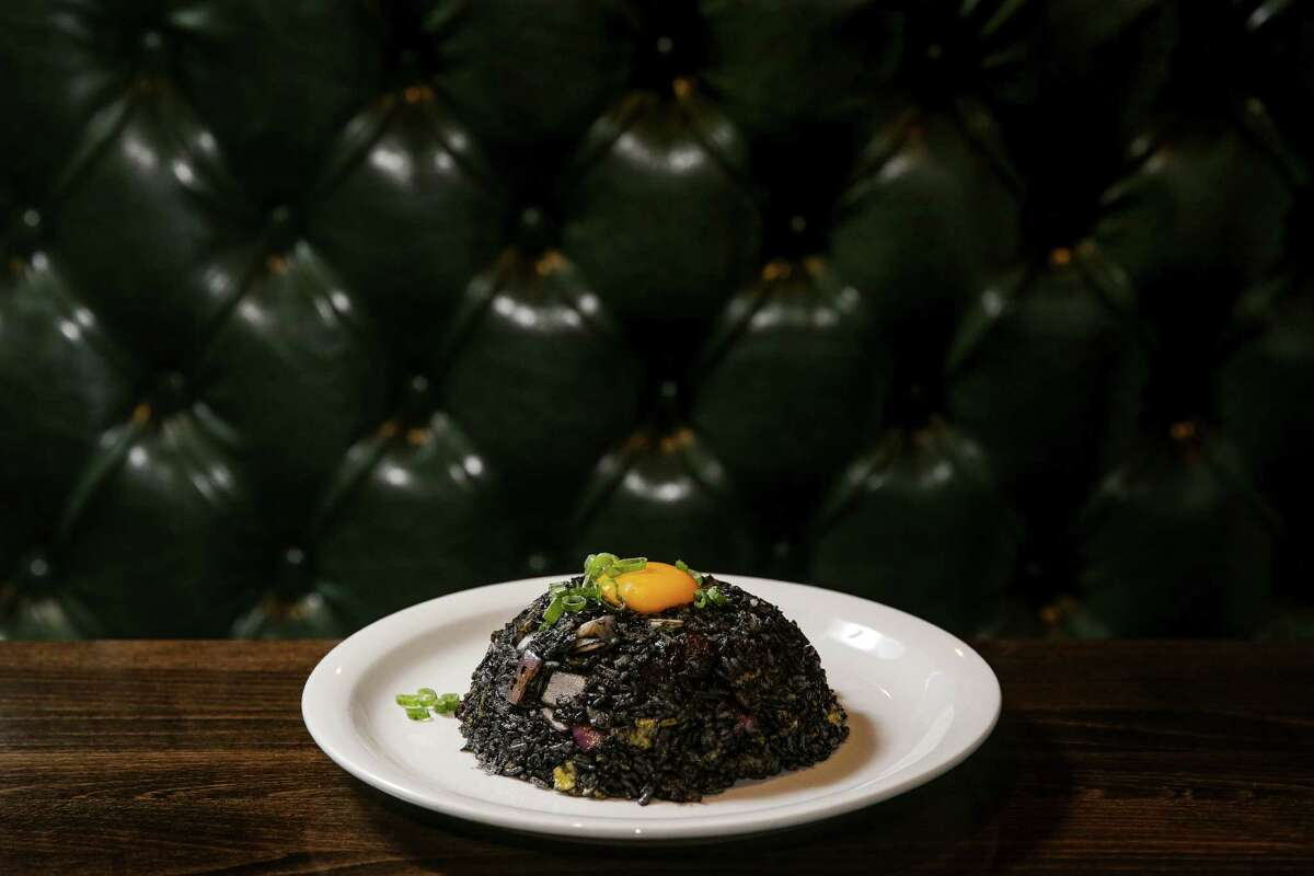 Squid ink fried rice at Mein