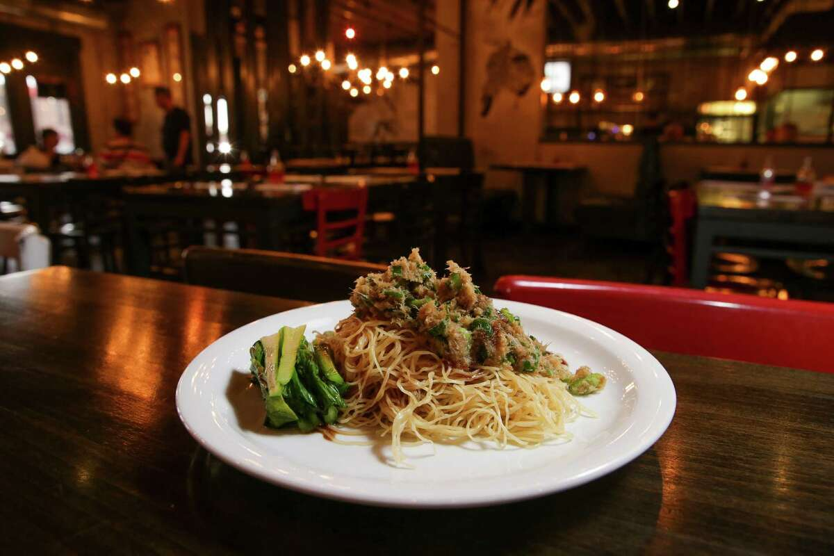 Ginger scallion noodles at Mein