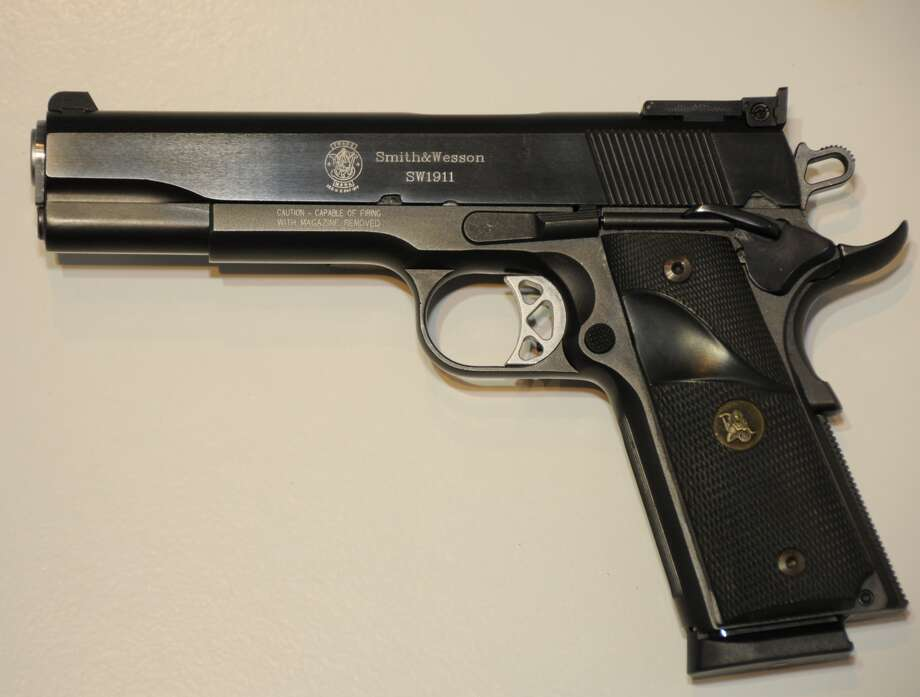 M1911The handgun has been the sidearm of choice of the US Armed Forces for 75 years. The Republic Forge, a Texas-based gun manufacturer, produces specialty versions of the M1911. Photo: Praiyachat, Wikimedia Commons