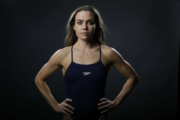 Swimmer Natalie Coughlin poses for photos at the 2016 Team USA Media Summit Monday, March 7, 2016, in Beverly Hills, Calif. (AP Photo/Jae C. Hong)