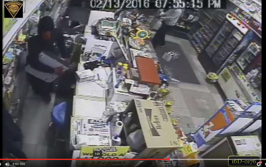 The Bridgeport Police Department Robbery Squad is asking for assistance in identifying three people responsible for an armed robbery that happened on Feb. 13, 2016 at the Swisland Farm Food Store at 549 Broadbridge Avenue. Police ask anyone with information on the robbery to contact Detective Frank Delbouno at 203-581-5201. Photo: Contributed Photo / Contributed Photo / Connecticut Post contributed