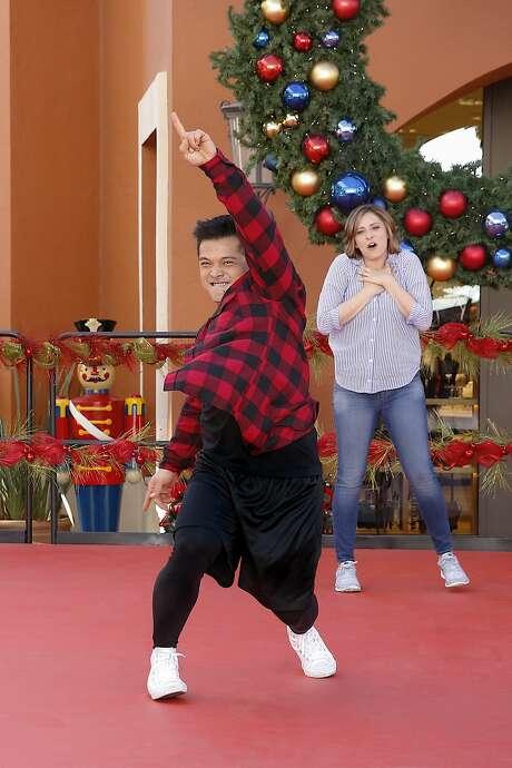 "Vincent Rodriguez III busts a move as Josh, alongside Rachel Bloom as Rebecca, in ""Crazy Ex-Girlfriend."" Photo: Greg Gayne"