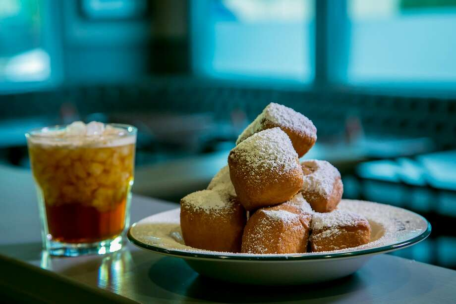 Beignets with the Irish Channel cocktail at Bywater in Los Gatos. Photo: John Storey John Storey, Special To The Chronicle