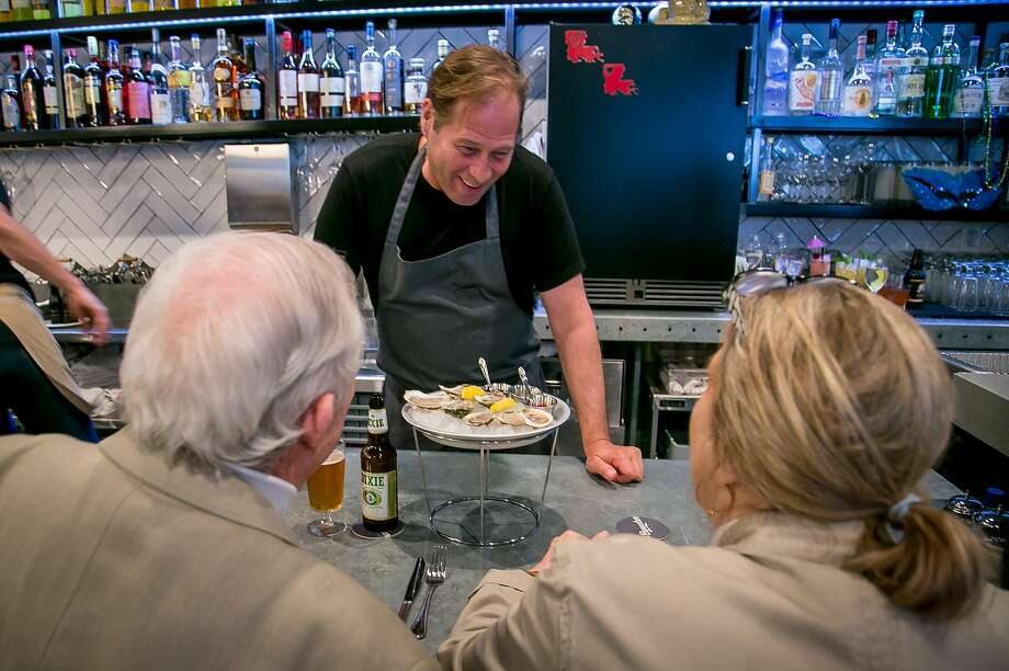 Chef David Kinch talks with customers during dinner service at Bywater in Los Gatos, Calif. on March 6th, 2016. Photo: John Storey John Storey / Special To The Chronicle