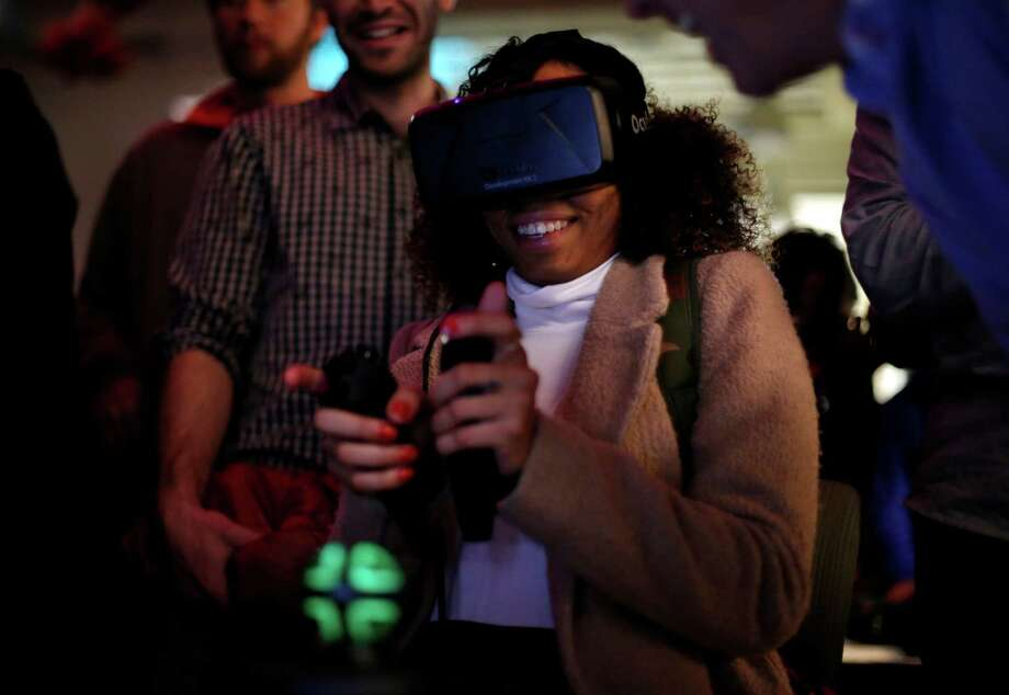 Livit technology will work with a variety of virtual reality headsets, including the upcoming Oculus Rift. Photo: Connor Radnovich / The Chronicle / ONLINE_YES