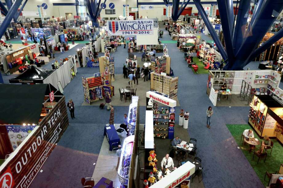 The Campus Market Expo, a trade show for businesses trying to reach college students, runs through Tuesday afternoon.  Photo: Gary Coronado Gary Coronado, Staff / © 2015 Houston Chronicle