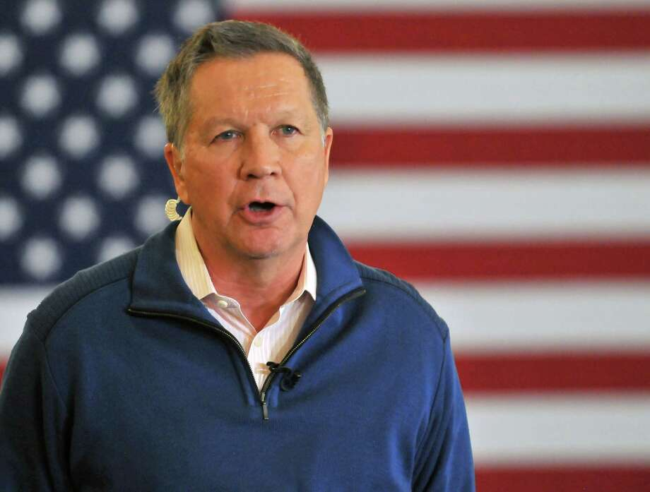 Republican presidential candidate, Ohio Gov. John Kasich speaks at a rally in Traverse City, Mich., Saturday, March 5, 2016. The Michigan primary election is Tuesday, March 8, 2016. (AP Photo - John L. Russelll) Photo: John L. Russell, FRE / FR61762 AP