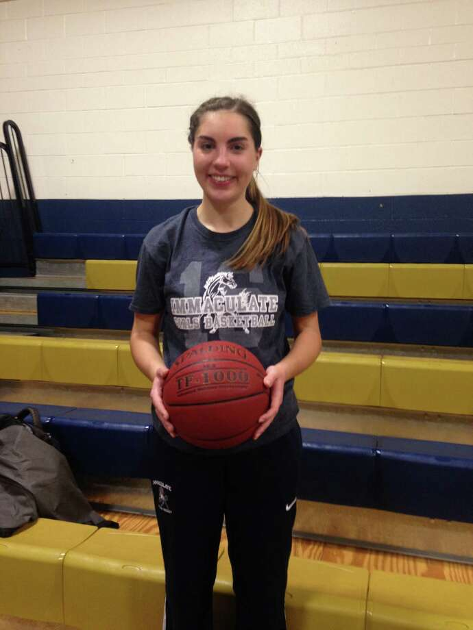 Immaculate's Taylor Guth scored her 1,000th career points on Monday night against Notre Dame-Fairfield. Photo: Contributed Photo / Connecticut Post Contributed