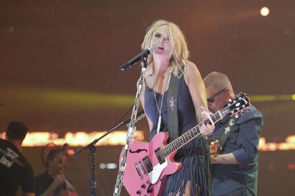 Miranda Lambert brings her brand of country music to the NRG Stadium stage for 60,118 fans Monday at the Houston Livestock Show and Rodeo.