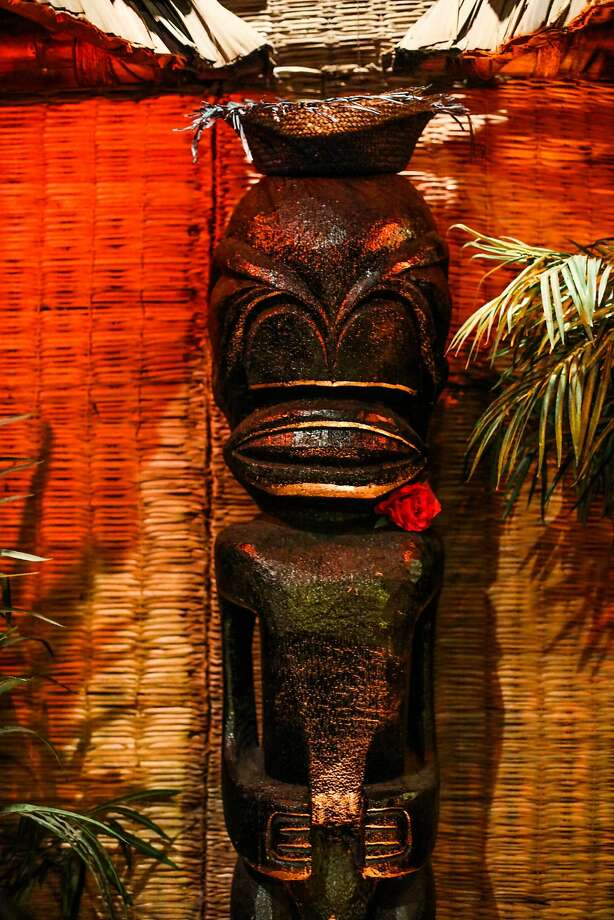 A tiki sculpture keeps an eye on the goings-on at the Tonga Room in S.F. Photo: Gabrielle Lurie Gabrielle Lurie, Special To The Chronicle