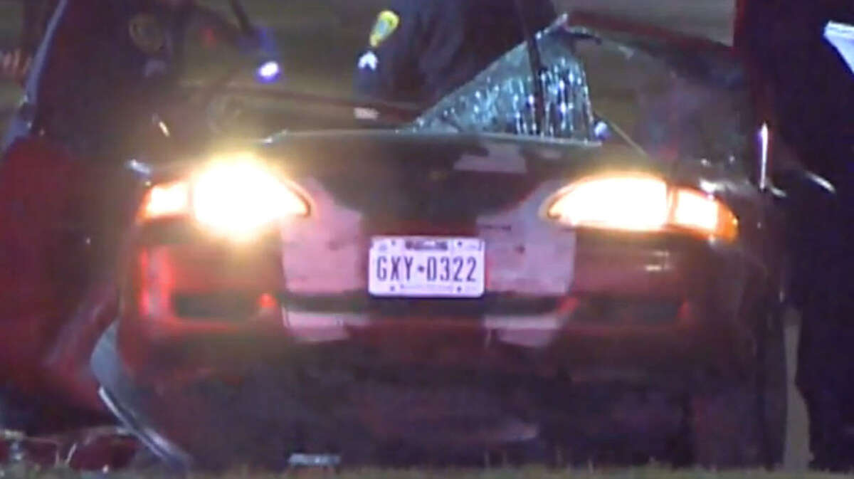 One person died and another was injured when their car slammed into a tree in northeast Houston.