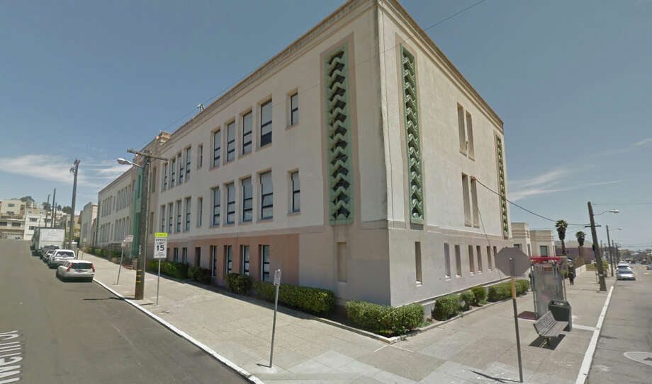 An unoccupied classroom was struck by a bullet at Visitacion Valley Elementary School. Photo: Google Maps