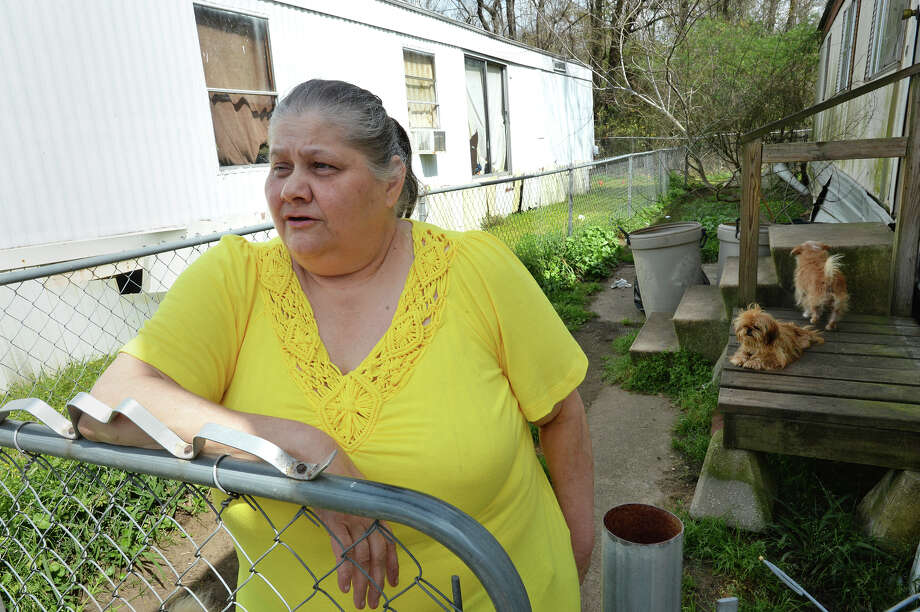 Marilyn Musick talks Monday about what she heard when Herby Ballance was shot at his home on Saturday. Musick lives near Ballance's home. Photo taken Monday, March 07, 2016 Guiseppe Barranco/The Enterprise Photo: Guiseppe Barranco, Photo Editor
