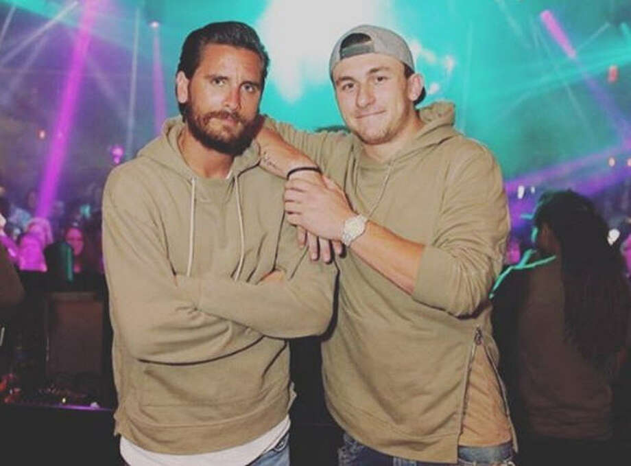 Despite being spotted with the likes of former Kardashian entourage member Scott Disick (left), Johnny Manziel claims he's not really partying.Click through the gallery to see Manziel's highs and lows in football. Photo: Instagram