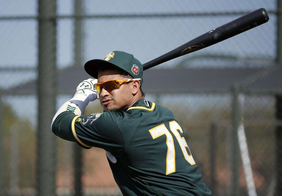 Franklin Barreto is playing shortstop for the A's Triple A Nashville affiliate, but one scenario has him shifting to second base for Oakland after Marcus Semien returns from the disabled list and if resurgent Jed Lowrie is traded to a contender. Photo: Michael Macor, The Chronicle